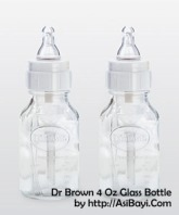 dr. brown 4 oz glass baby bottle