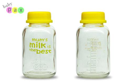 botol kaca simpan asi babypax