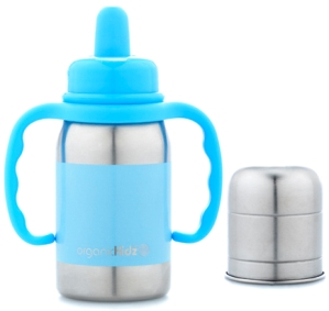 sippy organic kidz stainless baby bottle
