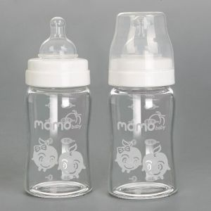 Momo Baby Wideneck Glass Baby Bottle