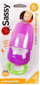 Sassy Teething Feeder Purple
