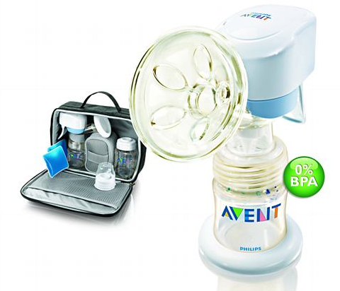 Avent Single Electronic Breastpump Out & About