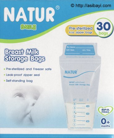 natur breastmilk bag