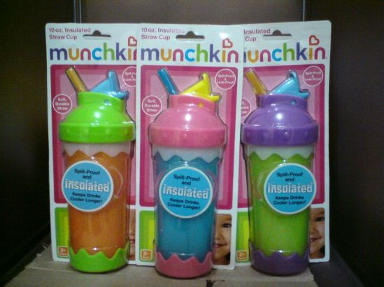 munchkin 10oz insulated straw cup