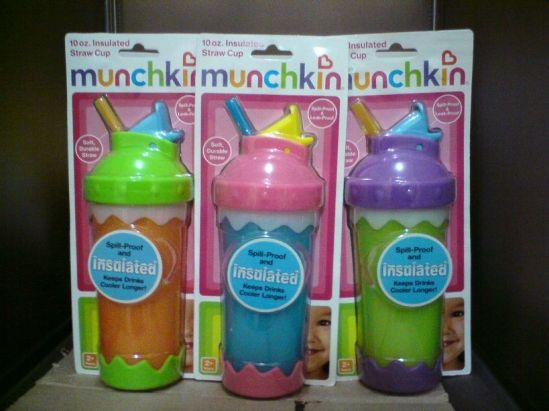 munchkin 10oz insulated straw cup