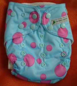 green nappy classic pink polka